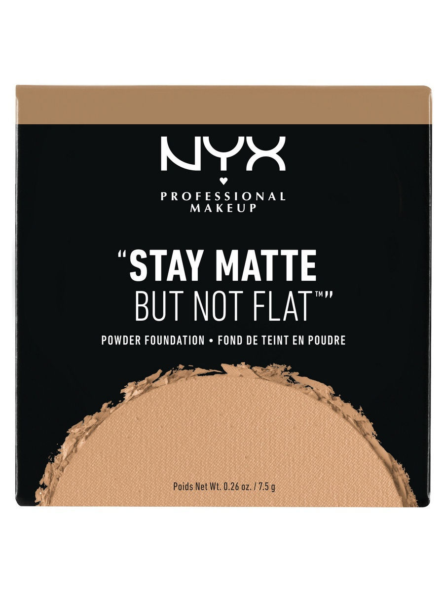 NYX PROFESSIONAL MAKEUP Тональная основа-пудра. STAY MATTE BUT NOT FLAT POWDER FOUNDATION - TAWNY