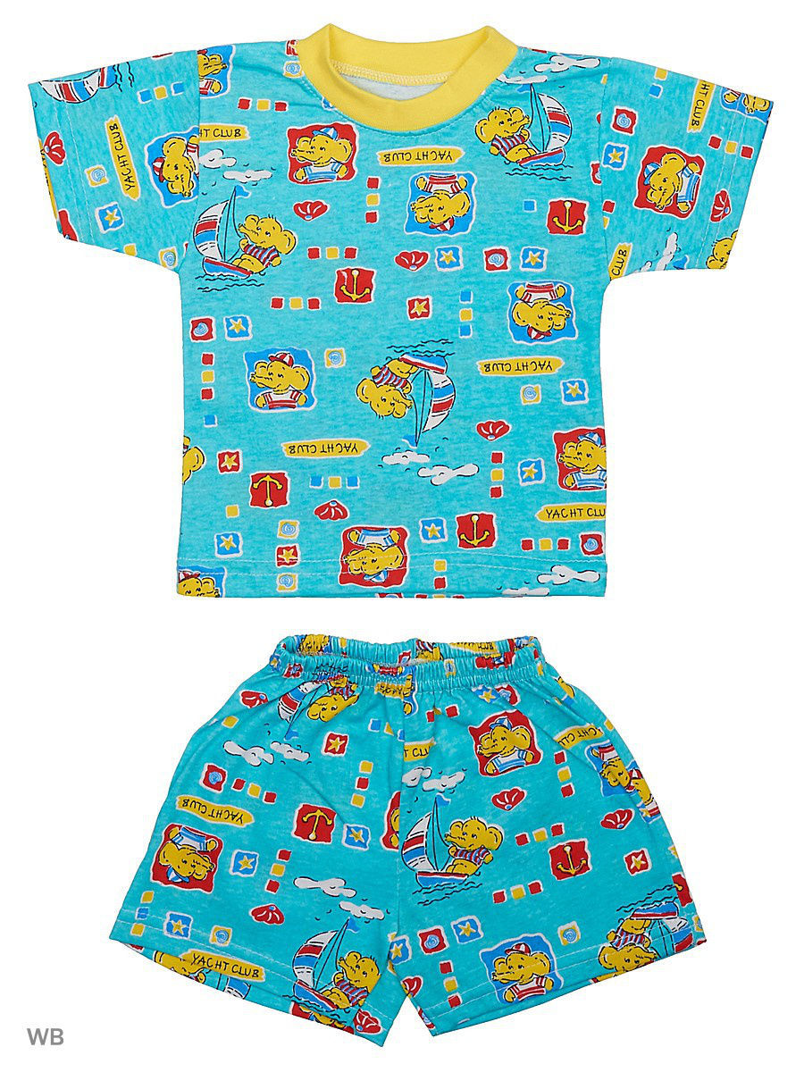 Костюм Babycollection 19Baby-700/3/голубой,желтый: изображение 1
