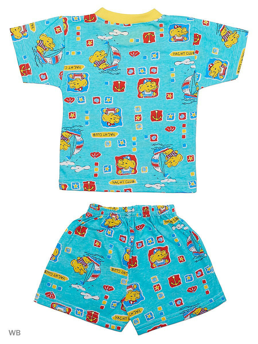 Костюм Babycollection 19Baby-700/3/голубой,желтый: изображение 2