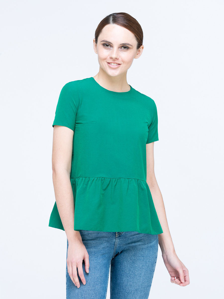 Блуза T&B Base SS1606_top006_green