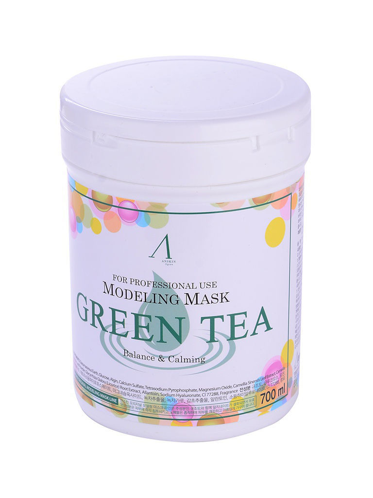 ANSKIN Маска альгинатная с экстр. зел.чая усп. (банка) 700мл Grean Tea Modeling Mask /container 240гр