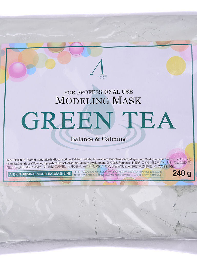 ANSKIN Original Маска альгинатная с экстр. зел.чая усп. (пакет) 240гр Grean Tea Modeling / Refill 240гр