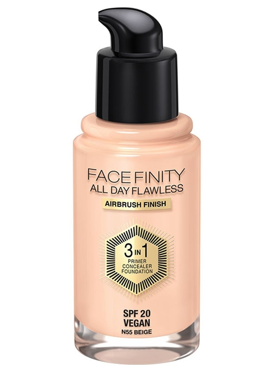 MAX FACTOR Тональная основа Facefinity All Day Flawless 3-in-1 №55